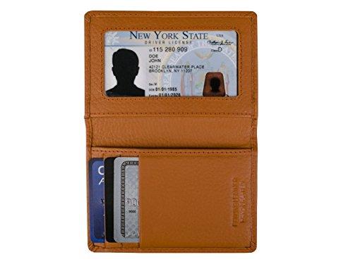 Dwellbee Slim Leather Credit Card Wallet (Cowhide Leather, British Tan)