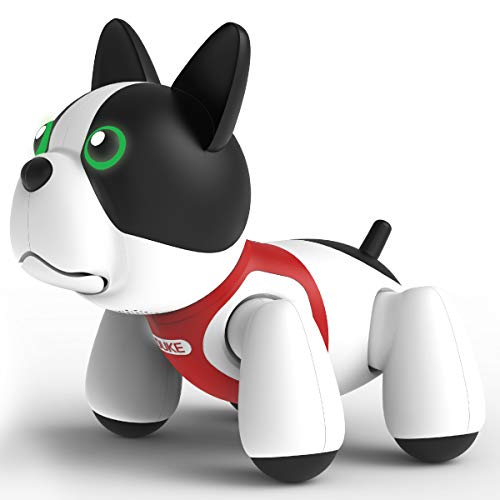Sharper Image RC Toy Duke The Trainable Robotic Puppy Dog with Smart Bone, Virtual Robot Pet for Kids, Barks and Plays Tricks on Command, Responds to Touch and (Best Robot Dogs)