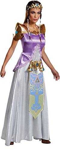 Princess Zelda Child Costume (Disguise Women's Legend Deluxe Zelda Adult Costume, Multi,)