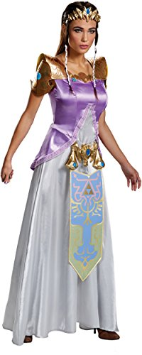 Disguise Women's Legend Deluxe Zelda Adult Costume, Multi, Medium - Junior Princess Costumes