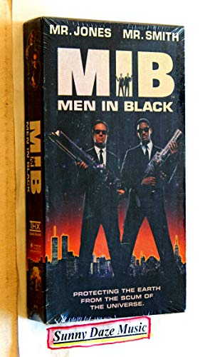 MIB Men In Black - Columbia Pictures 1997 - A New Factory-Sealed VHS Movie Graded 9.9 By The Seller - Full Length Feature Film Starring Tommy Lee Jones - Will Smith - Rip Torn - Linda Fiorentino
