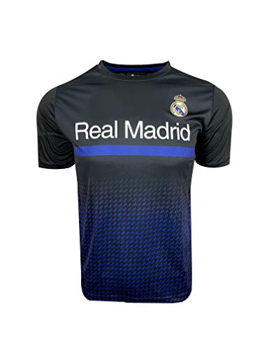 Real Madrid T-Shirt for Kids, Official Training Jersey (Youth Large 10-12 Years) Black