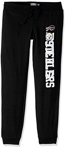 NFL Pittsburgh Steelers Women's Ots Fleece Pants, Large, Jet Black