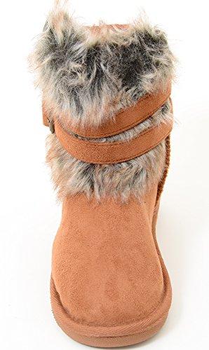 ... Super Furry Shearling Flat Eskimo Støvler Kvinners Vegan Semsket Kamel  ...