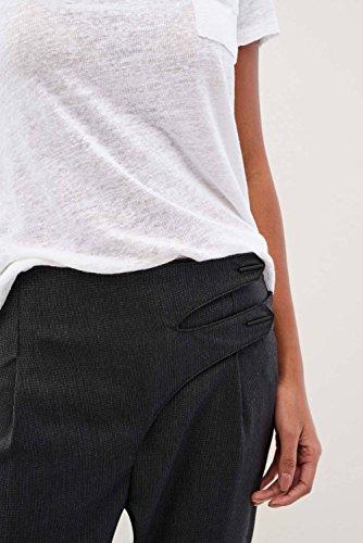 Negro de Pantalones Tejido Salsa Cruzados CRqWBXTIYw