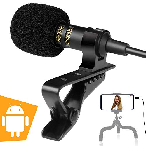 Android Microphone - Exclusive ASMR Microphone for Android - Phone Microphone Android - Best Android Microphone for Recording/YouTube/Vlog/Interview/Podcast/Stream (Kindle Fire Microphone)
