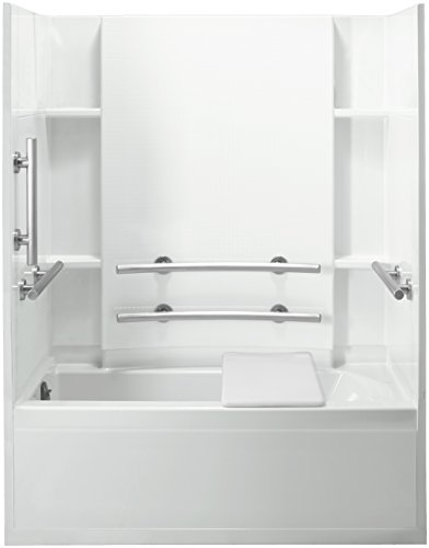 STERLING 71150115-0 Accord Bath and Shower Kit, 60-Inch x 32-Inch x 74-Inch, Left-Hand, White