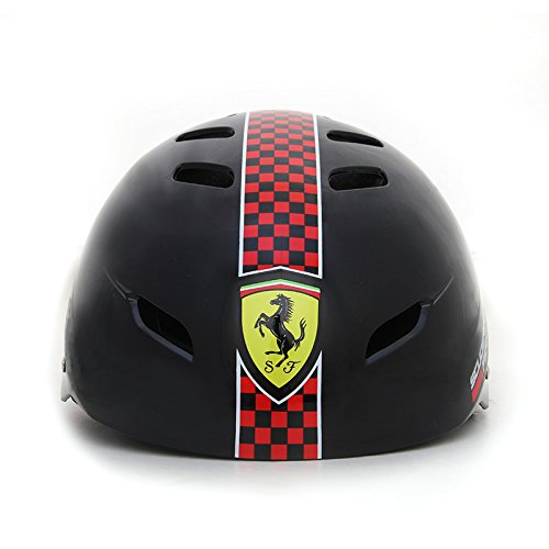 Ferrari Casco para Bicicleta o para Patinaje, Ajustable, Color Negro, Talla ú nica Talla única FAH50BLKM FAH50_Nero-58/60