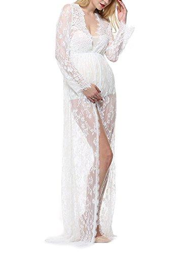lace split dress - 2