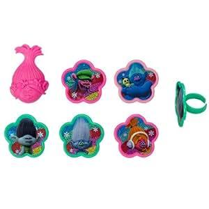 Trolls True Colors Cupcake Rings - 24 Count