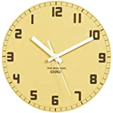 "JustNile Rustic Wooden 10"" Non Ticking Wall Clock - Backwards In Time"