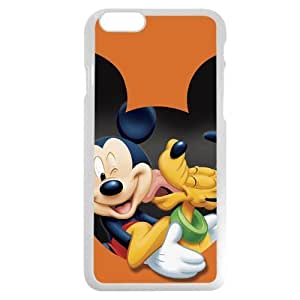 "Customized White Plastic Disney Cartoon Micky Mouse & Pluto Dog iPhone 6 4.7 Case, Only fit iPhone 6 4.7"" Kimberly Kurzendoerfer"