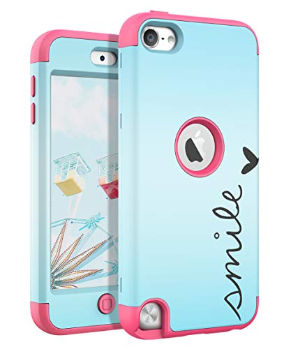 TIANLI(TM) iPod Touch 7th Generation Case,iPod Touch 6th Generation Case,iPod Touch 5th Generation Case TIANLI Heavy Duty Shockproof Protective Cover for iPod Touch 7/iPod Touch 6/iPod Touch 5 - Pink