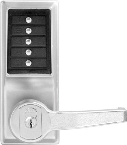 Kaba LR1041B-26D-41 Cylindrical Push Button Lock Lever C/Ko/P Bic Rh 26D, Dark Bronze