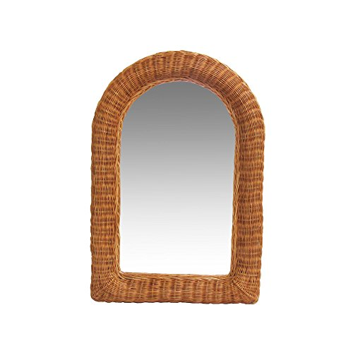 Real Authentic Wicker Rattan Mirror 29.5