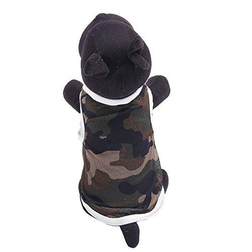 Camouflage Dog Shirt Tank - Axchongery Pet Shirt Summer Lightweight Breathable Mesh Camo Printed Sleeveless Vest Shirt Tank Top for Dog Plus Size (M, Gray)