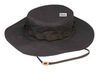 b920fc13 Amazon.com: Tru-Spec H2O Proof Adjustable Boonie, Black: Clothing