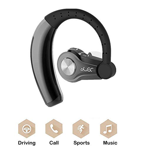 Samsung Note 8 Wireless Earbud, TechCode Sport Bluetooth Earphone Handsfree Music Noise Cancelling Rechargeable Stereo Bass Headset w/Mic for iOS & Android Bluetooth Devices, Gym, Workout(Gray) ()