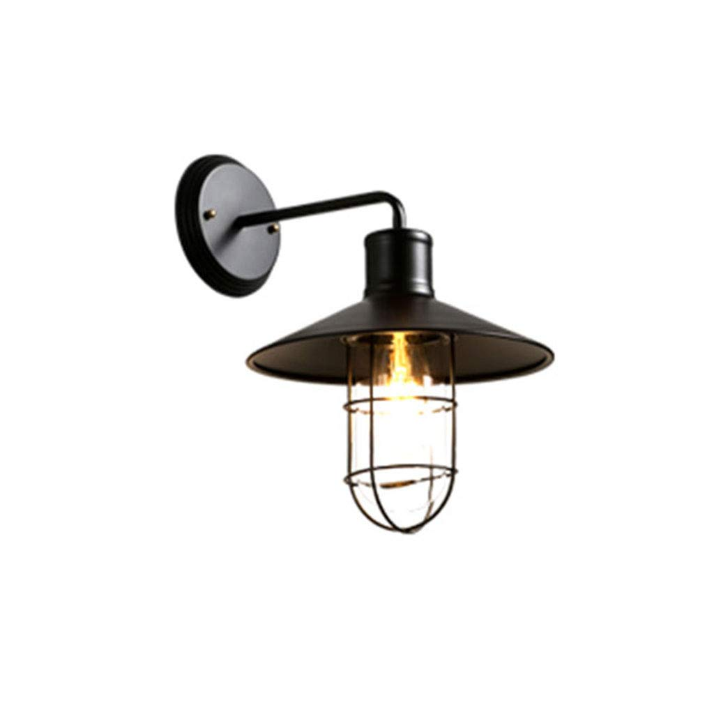 European-Style Retro Outdoor Wall Lamp, Creative Iron Cage Lampshade E27 (Black),Wall Lamp Kitchen/Living Room/Bedroom/Hotel/Cafe/Bar Lighting