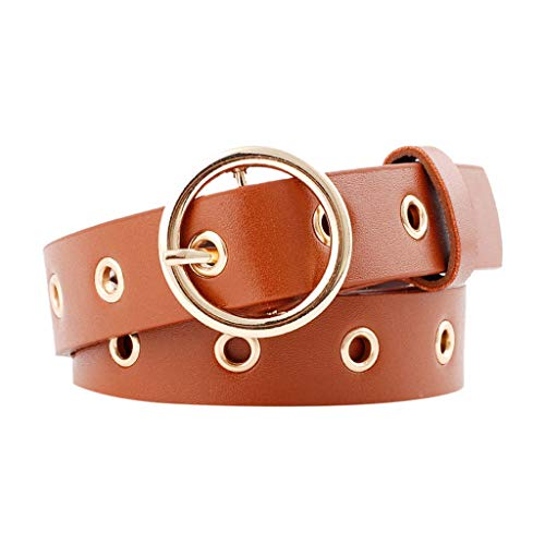 Women Leather Belt Simple Women Man Unisex Vintage Leather Snake Buckle Leisure Belt Trouser Accessories
