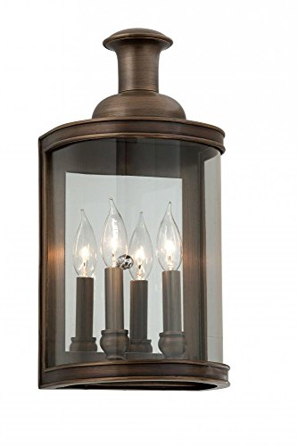 - Troy Lighting B3192 Traditional Two Light Wall from Pullman Collection in Bronze/Dark Finish,