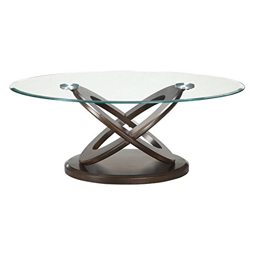 Coaster Glass Top Round Coffee Table in Espresso Review