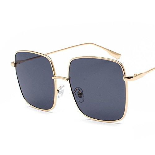 Aoligei Plat transparent le grand cadre de miroir carré rétro lunettes de soleil Fashion Street tirer lunettes de soleil film océan G