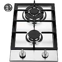 Ramblewood GC2-37P (LPG/Propane Gas) high efficiency 2 burner gas cooktop