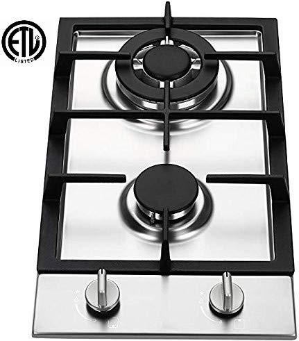 (Ramblewood GC2-37P (LPG/Propane Gas) high efficiency 2 burner gas cooktop)