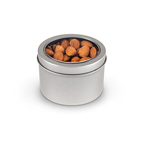 Almonds, Raw, Round Window Medium Tin 48ct/5.5oz by In-Room Plus, Inc.