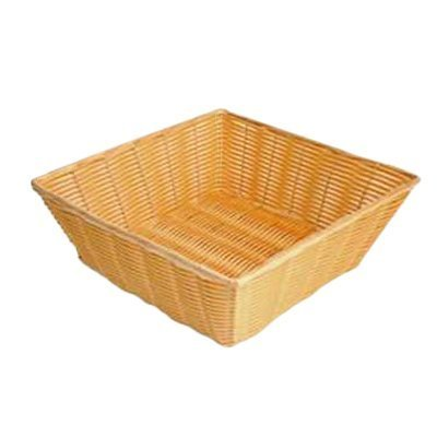 Thunder Group PLBN1313T Plastic Hand-Woven Basket, Square, 13 by 13 by 4-1/2-Inch