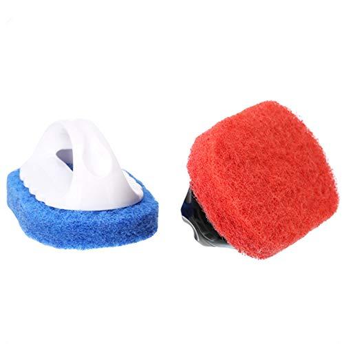 Nizzco Household Cleaning Supplies for Kitchen, Bathroom - Plastic Handle Sponge Brush - Tile, Shower Bathtub Scrubber, Pool Cleaning,Set of 2