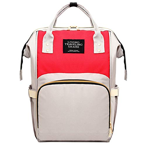 (Londony✡ Diaper Bag Backpack, Multifunction Travel Back Pack Maternity Baby Nappy Changing Bags, Large Capacity, Stylish Beige)