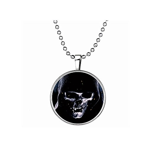 Winter's Secret Death Pattern European and American Popular Halloween Glow Round Pendant Necklace