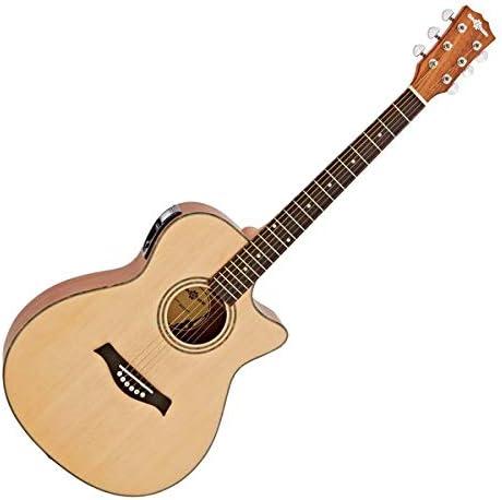 Guitarra Electroacustica Deluxe Single Cutaway de Gear4music - Pterocarpus