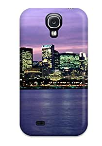 Tpu Case Cover For Galaxy S4 Strong Protect Case - Chicago City Design