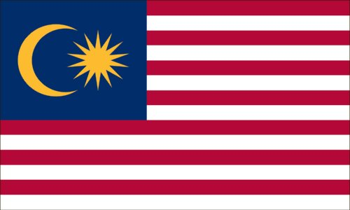 Valley Forge Flag 5-Foot by 8-Foot Nylon Malaysia Flag