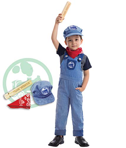 Spooktacular Creations Train Engineer Costume Deluxe Set for Kids Halloween Party Dress Up, Roleplay and Cosplay (12-24 mo.)