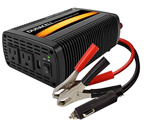 Duracell DRINV800 High Power Inverter 1600 Watt Peak 800W Continuous, 12v DC Input Includes 2 AC Outlets (115V) Plus 2.1 Amp USB (5V) (Renewed)