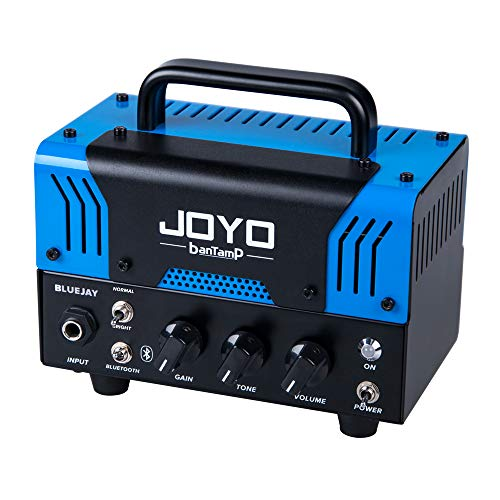 JOYO BantamP Series BlueJay 20 Watt Dual Channel Guitar Amplifier head, Portable Mini Amp for Bass, Acoustic Electronic Guitar