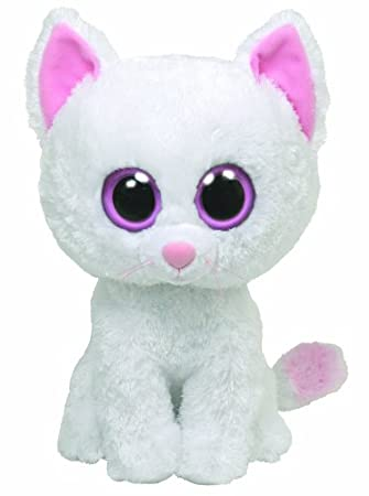 TY 36054 Cashmere - Gato de peluche (15 cm), color blanco