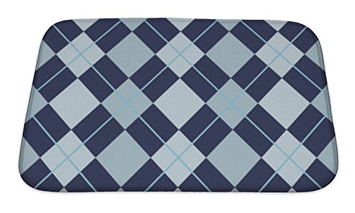 Light Blue 24 by 40-Inch Castle Hill Shooting Star Reversible Bath Rug