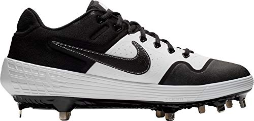 Nike Men's Alpha Huarache Elite 2 Baseball Cleats (White/Black / 8.5 M US)