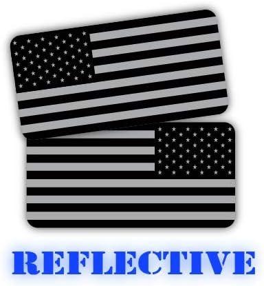 Black Ops American Flags Stealthy Hard Hat Decals Motorcycle Helmet Stickers