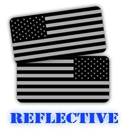 5a99d392e31875 (x2) 3M REFLECTIVE Stealthy American Flag Hard Hat Stickers | Black Ops  Decals