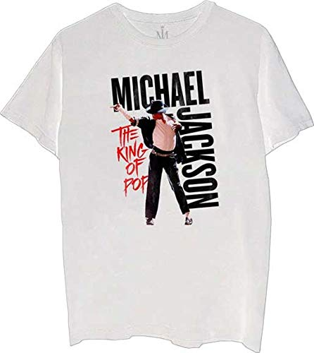 Merch Traffic Michael Jackson Adult King of Pop T-Shirt Tee 100% Official Licensed (XX-Large)