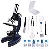 Hukai Children Kid Biological Microscope Set Student Educational Toy 100x 600x 1200x