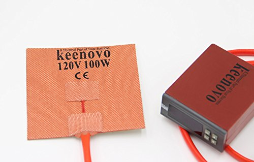 KEENOVO Silicone Heater for M3D Micro 3D Printer Heated Build Plate Upgrade 100W 120V Plug & Play Solution with Digital Controller Integrated