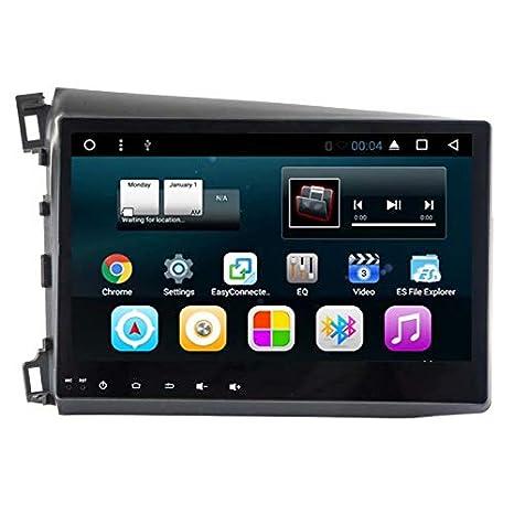 TOPNAVI For Honda Civic 2012 2013 2014 Android 7.1 Head Unit Car Table GPS Navigation Car Stereo Radio Player with Quad Core 16GB ROM 1GB RAM WIFI 3G RDS Mirror Link FM AM Bluetooth Audio Video