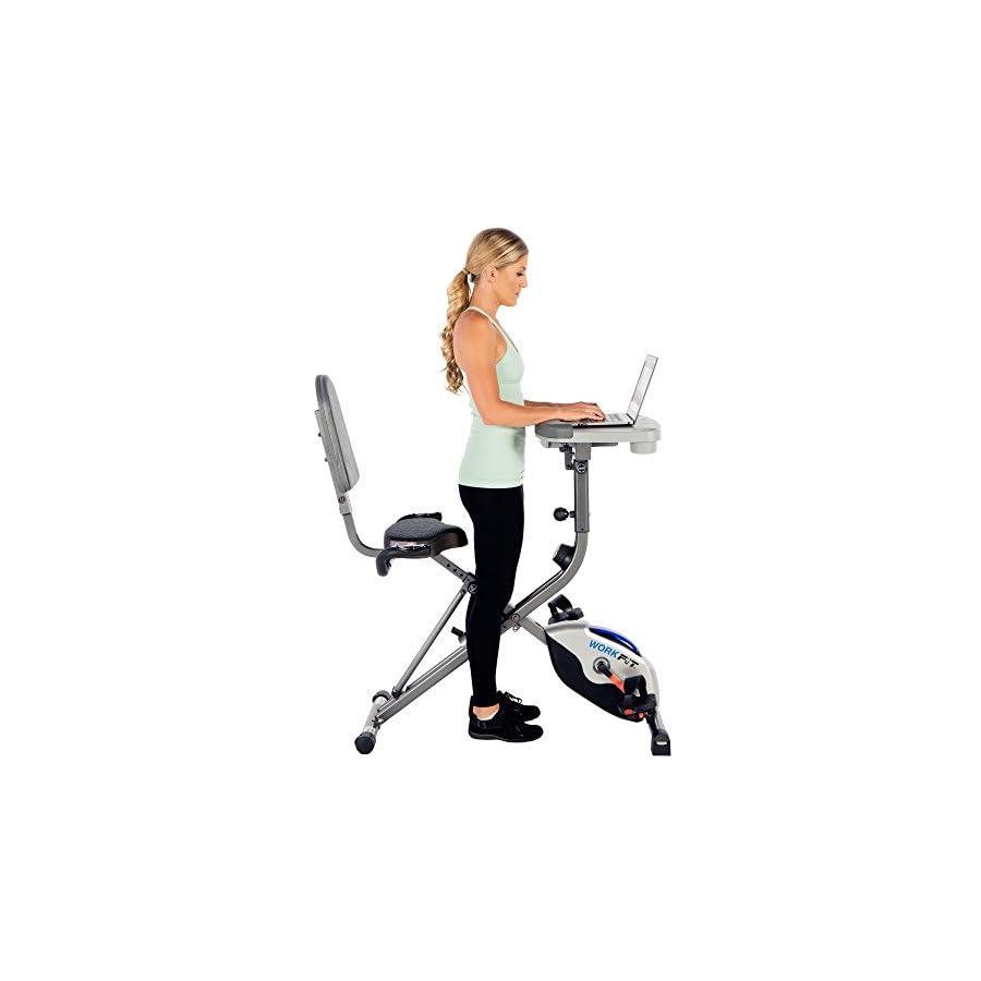Exerpeutic WORKFIT 1000 Desk Station Folding Semi Recumbent Exercise Bike
